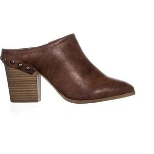Easy Street Shiloh Heel Mules, Brown  8.5M